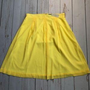 NWT - Ann Taylor - Yellow Midi Flowy Skirt